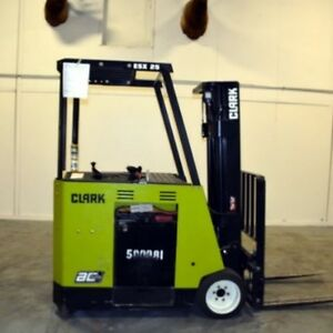 CLARK ESX15 [3,000 LB] ELECTRIC FORKLIFT-FOR SALE