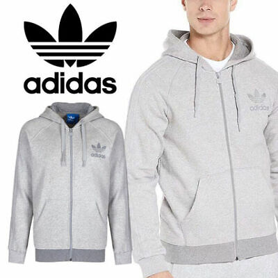 Adidas Mens Sports SPO Full Zip Hooded Fleece Jacket hoodie jumper gym