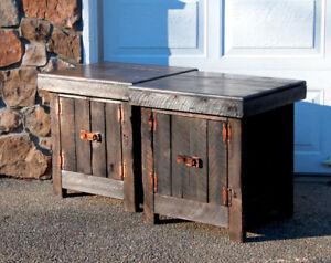 Reclaimed Barnwood Rustic End Table