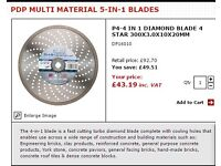 PDP MULTI MATERIAL 5-IN-1 DIAMOND BLADES
