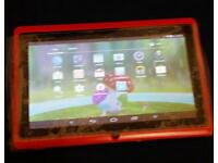 7 inches android tablet...dual camera, play store with loads of games,Red,Pink colour..New in box
