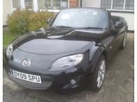 2009 MAZDA BLACK MX5 2.0L SPORT POWERSHIFT 6 SPEED AUTOMATIC CONVERTIBLE ...ONLY 35000 MILES.