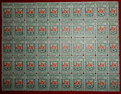 Green Stamps (Vintage S & H Sperry Hutchinson Green Trading Stamps  1 mil - Sheet of 50)