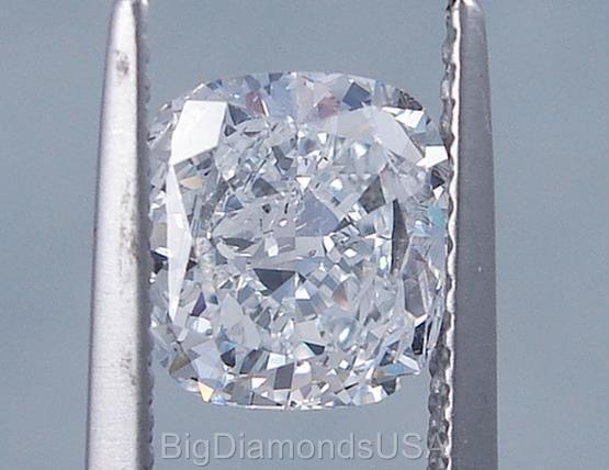 2.02 CARATS CUSHION CUT CERTIFIED LAB GROWN DIAMOND D SI2 $6,990