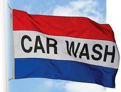 New Car Wash Flag Banner 3 X 5 Ft Sign Better Quality Usa Seller