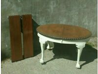 Antique Shabby Chic Oval Extending Table