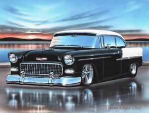1955 Chevy car (bumpers)