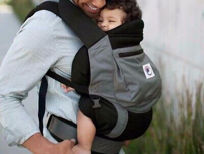 $139 Ergo Baby Original Air Mesh Performance Ergonomic Baby Carrier Black Gray 1 for sale  Shipping to South Africa