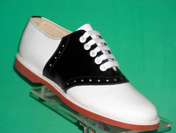 Muffy's Classic Black/white leather Saddle Shoes  US Women's sizes 5-12 (#250)