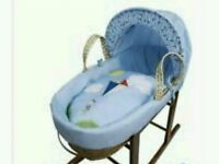 Kinder valley blue kite moses basket. Brand new in sealed packs. 2 lift in stock.