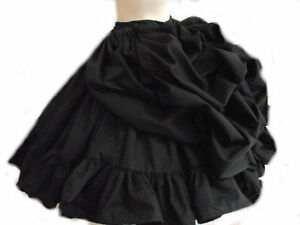 STEAM-PUNK-GOTHIC-TAFFETA-BUSTLE-CIRCULAR-SKIRT