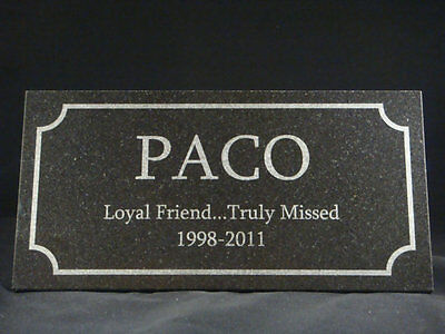 Pet Memorial Plaque Laser Etched In Granite
