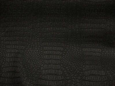 Matte Black Upholstery (Black Matt Gator upholstery Faux vinyl bags pillow auto commercial ships ROLLED )