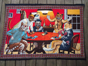 Rare Tapestry, Cats Playing Poker