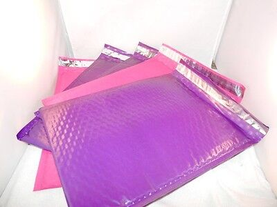 30 Hot Pink Purple Poly Bubble Mailers6x9 Padded Mailing Shipping Envelopes