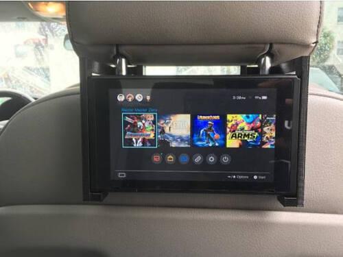 Nintendo Switch headrest docking station holder vehicle car mount stand joycon