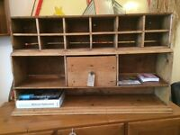1930s Post Office Pigeon Holes in Pine. Hand Made/Pre War/Vintage