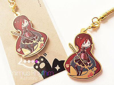 Golden Acrylic  Strap Charm   Rwby Ruby Rose Anime   Cell Phone