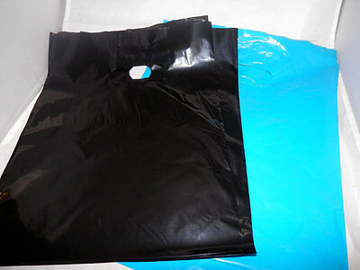 100 9 X 12 Teal Blue And Black Low-density Plastic Merchandise Bags
