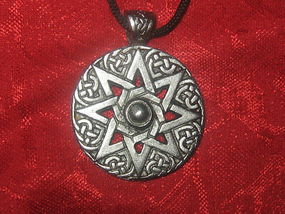 Silver Pewter 30mm Wiccan 8 Pointed Ishtar Goddess Star Pendant Charm Necklace Goddess Star Necklace