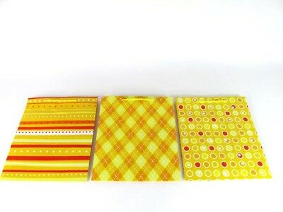 LDW 9 Assorted Yellow Paper Party Favor Wedding Gift Handle Bags