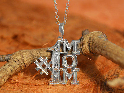#1MOM Pendant with Chain-Sterling Silver-Lovely,Best Mom,Mom to Be,Gift (Best Mom To Be Gifts)