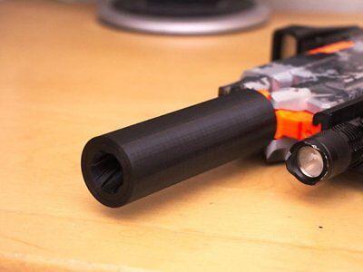 3D Printed supressor Silencer Barrel for Nerf Stryfe Gun