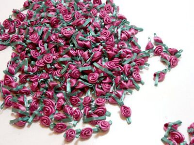 Antique Rose Pink Appliques, Offray Small Satin Flowers X 10 pieces Sea (Antique Rose 10 Piece)
