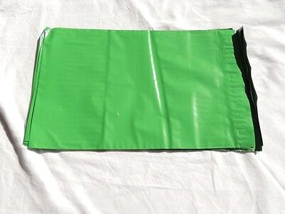 100 Green 7.5x 10.5 Flat Poly Mailers Shipping Postal Envelope Bags Wself Seal