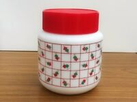 Vintage Kitchen Jar, Kitchen Storage, Vintage Milk Glass, 1980s Kitchen, Kitchen Canister,