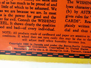 ANTIQUE Fortune Teller Wishing Wheel Game Buckleys 1933 West Island Greater Montréal image 5