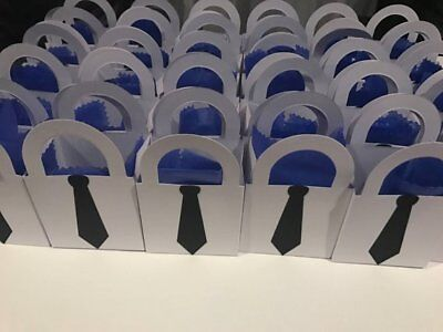 Custom Candy Bags (Boss baby Party Decorations - customized black neckties - 24 small candy)