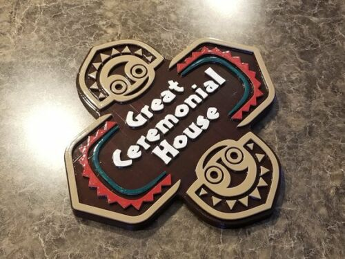 Full Scale Polynesian Resort Themed Sign / Plaque - Great Ceremonial House