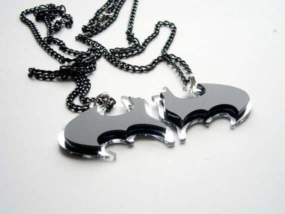 Batman New Necklaces - Laser Cut Best Friends Pendants