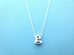Personalized, Letter, Initial, Small, Letter, Silver, Necklace