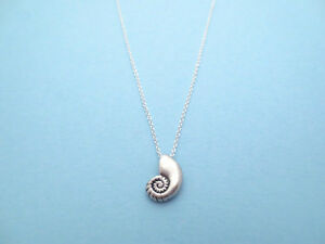 Ariel Voice, Sterling Silver Chain, Seashell Antique, Necklace