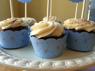 Glitter Cupcake Wrappers - Cinderella Sparkle Cupcake Wrappers