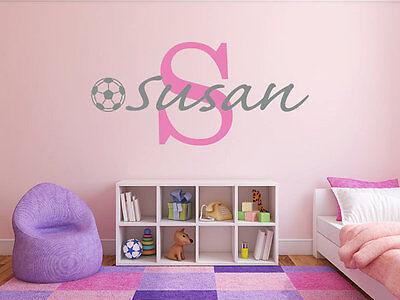 Soccer Ball Name Monogram Wall Decal for Girls and Boys 22