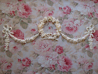 Shabby & Chic Rose Wreath Swags Bows Drops Mammoth Furniture Applique Embellishment