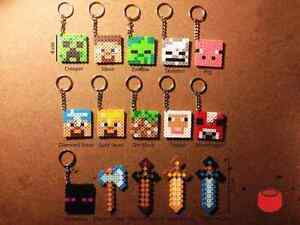 Minecraft key chains ~ Perfect for Stocking Stuffers