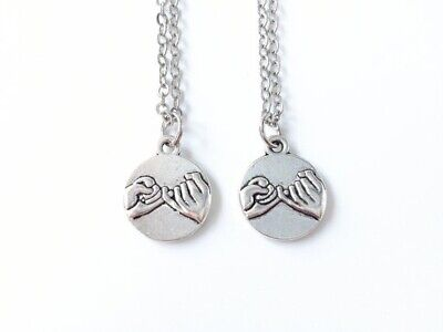 2pcs Pinky, Promise, necklace, Frindship, Best Friend, Birthday, Sister, Gift,