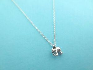 Tiniest, Cute, Baby, Silver, Elephant, Cute, Necklace