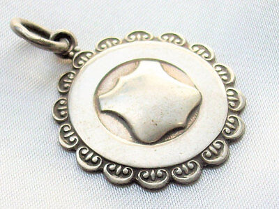Small Blank Vintage to Antique English Sterling Silver Albert Watch Fob Pendant