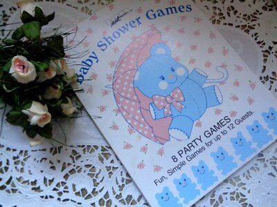 Vintage Baby Shower Games Booklet for Mom-to-Be Gift Party Paper Ephemera - Gifts For Baby Shower Games