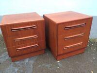 G plan bedside cabinets