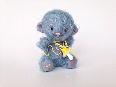 OOAK Mohair artist teddy bear Handmade Art doll Kids toys Stuffed Plush Soft