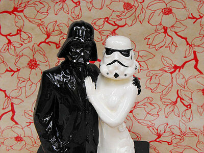 Star Wars Couple Cake Topper - Handmade in the USA - Star Wars Wedding Cake Toppers