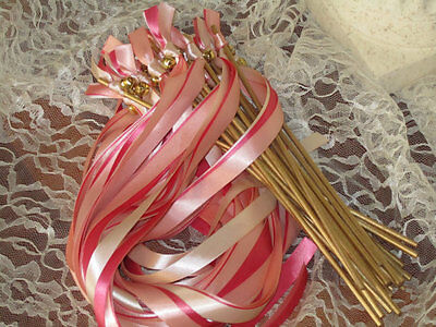 Ribbon Wands Wedding (25 Wedding Wands 284 Colors Available (Double)