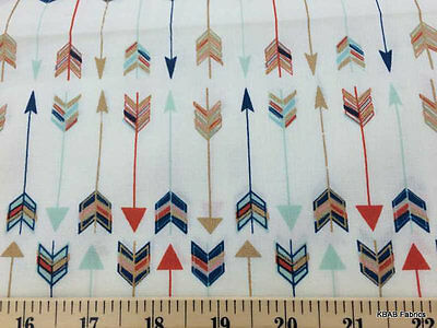 Mint Coral Navy Gold Metallic Tribal Arrows Custom Handcrafted Valance NEW a5/16](Gold Metallic Curtains)