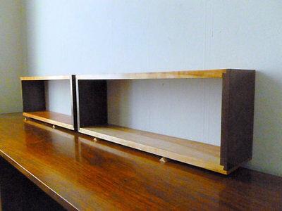 Single Simple Elegant Walnut and Cherry Dovetail Floating Wall Box Shelf ()